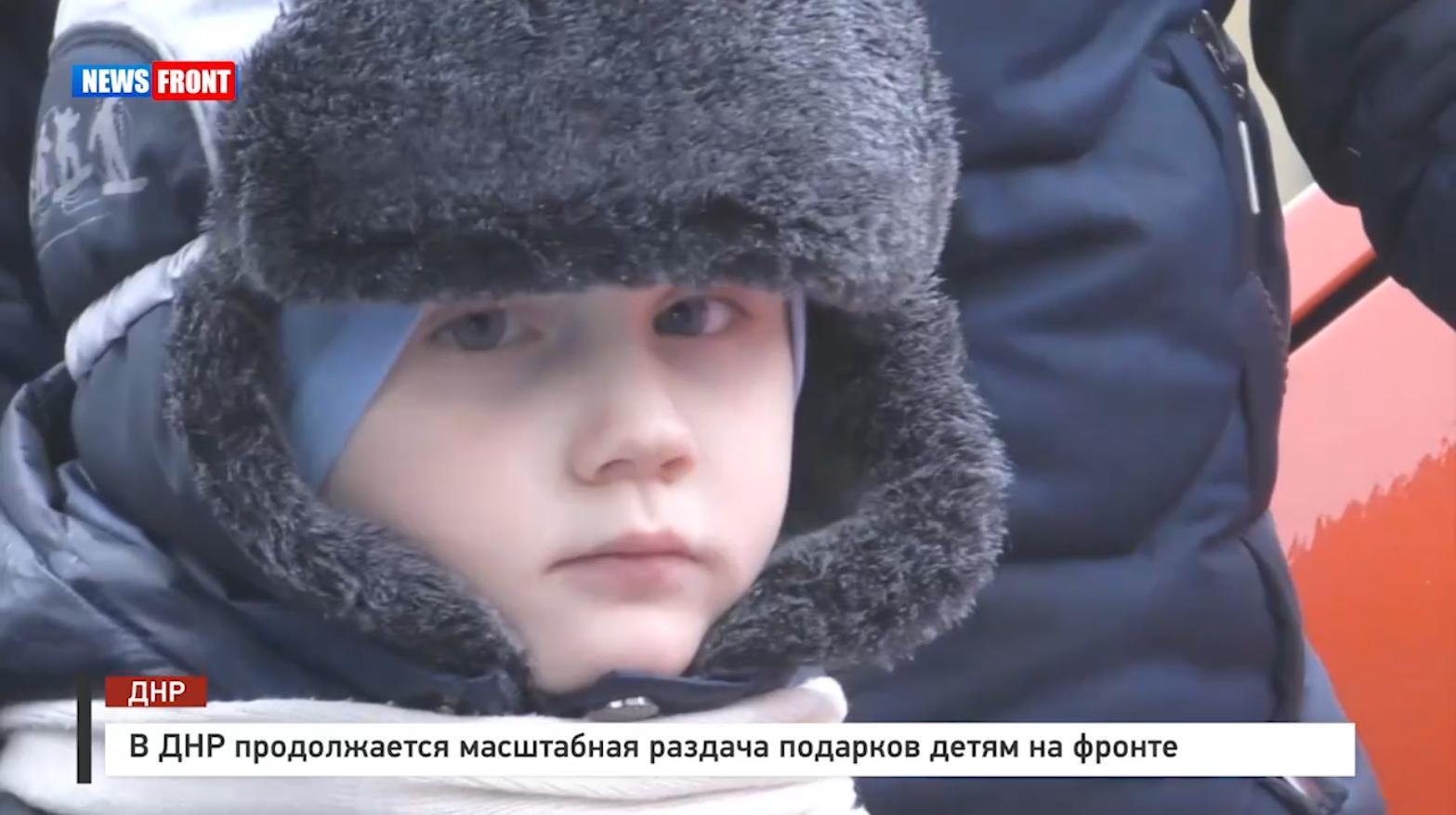 В ДНР продолжается масштабная раздача подарков детям на фронте